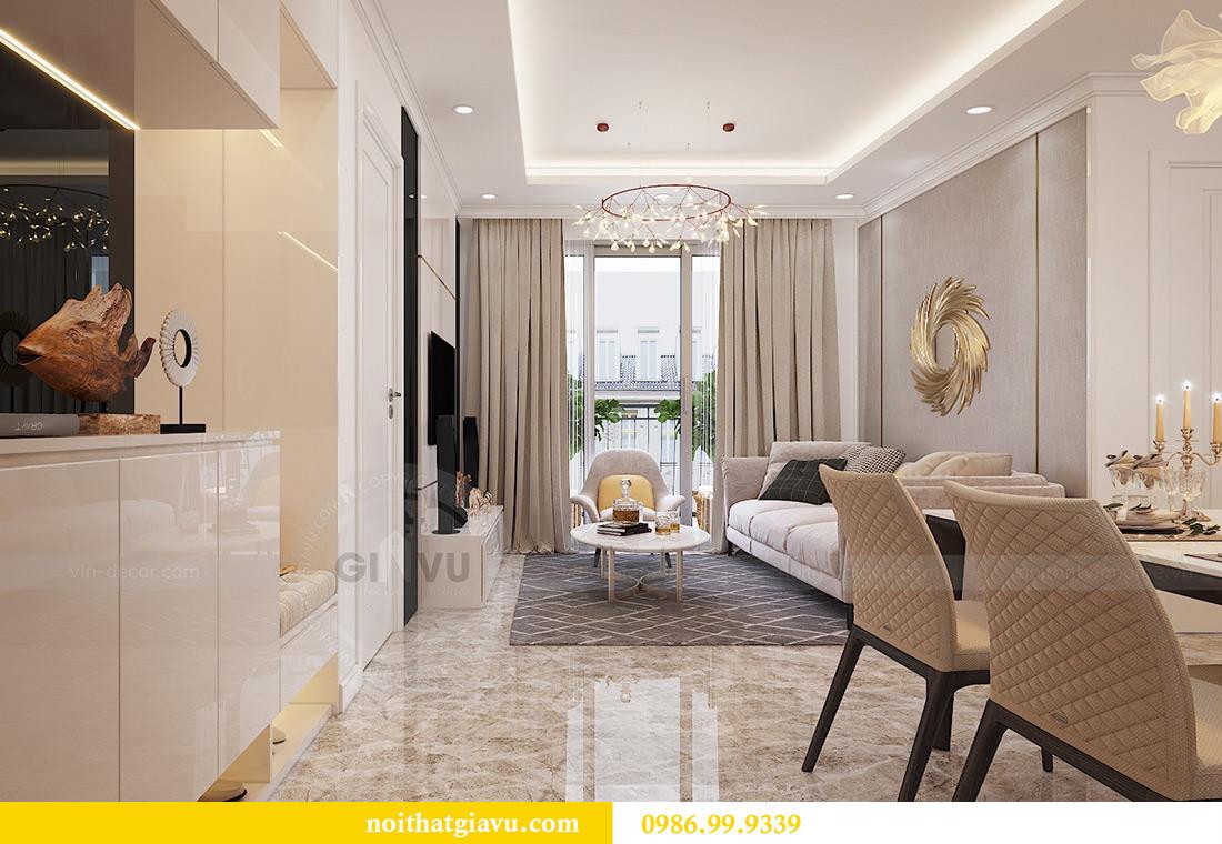 Thiết kế căn hộ 07 tòa C3 Vinhomes Dcapitale căn 2 ngủ chị Hải 1