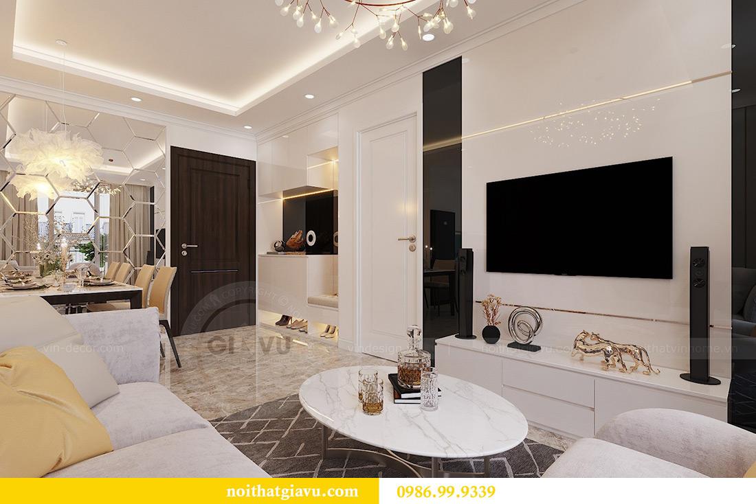 Thiết kế căn hộ 07 tòa C3 Vinhomes Dcapitale căn 2 ngủ chị Hải 5