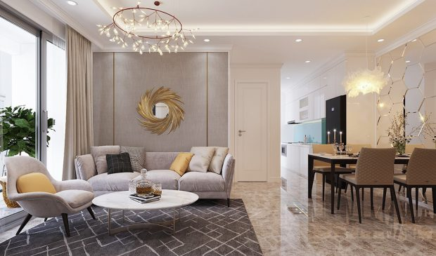 Thiết kế căn hộ 07 tòa C3 Vinhomes Dcapitale căn 2 ngủ chị Hải