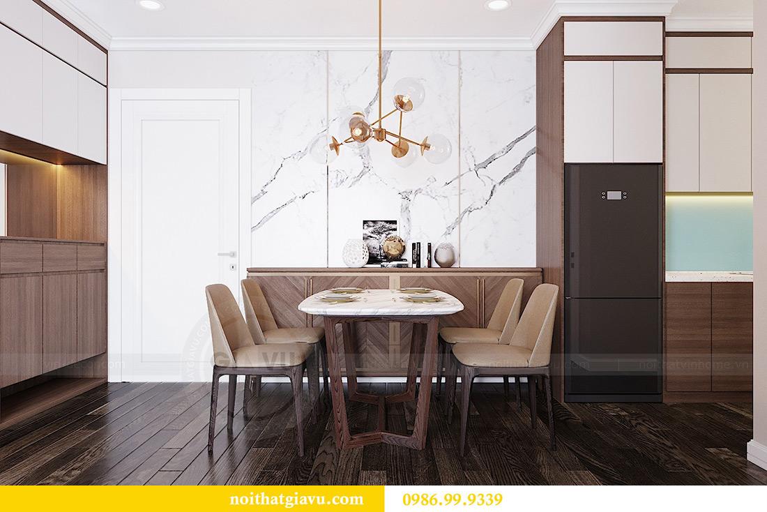 Thiết kế căn hộ chung cư 70m2 hiện đại, tiện nghi nhà chị Nga 1