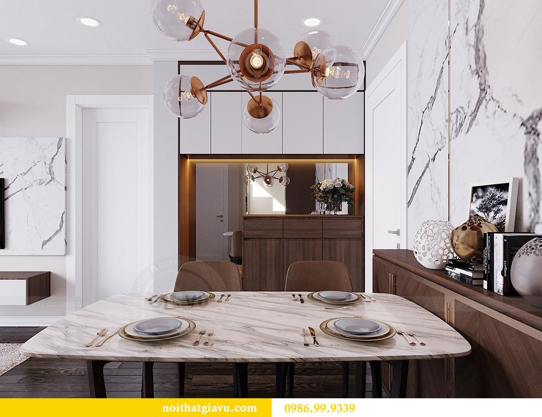 Thiết kế căn hộ chung cư 70m2 hiện đại, tiện nghi nhà chị Nga 2
