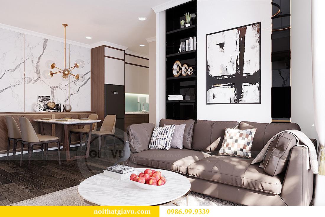 Thiết kế căn hộ chung cư 70m2 hiện đại, tiện nghi nhà chị Nga 5