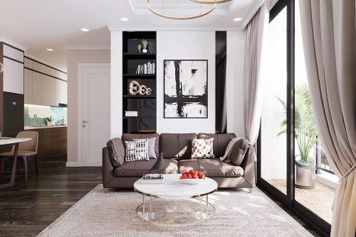 Thiết kế căn hộ chung cư 70m2 hiện đại, tiện nghi nhà chị Nga