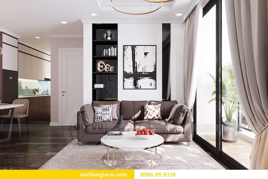 Thiết kế căn hộ chung cư 70m2 hiện đại, tiện nghi nhà chị Nga 6