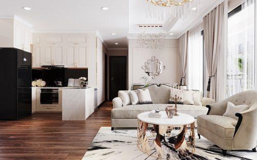 Thiết kế căn hộ chung cư Vinhomes Trần Duy Hưng tòa C1 căn 11