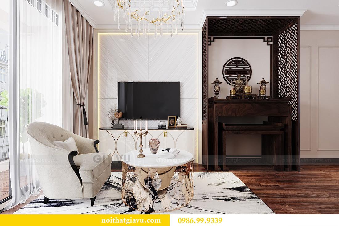 Thiết kế căn hộ chung cư Vinhomes Trần Duy Hưng tòa C1 căn 11 view 4