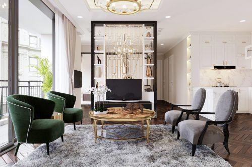 Thiết kế nội thất căn hộ 06 chung cư Dcapitale nhà chị Linh