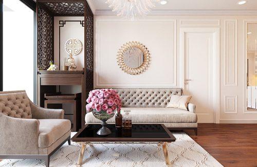 Thiết kế nội thất căn hộ Vinhomes Green Bay Mễ Trì sang trọng, đẳng cấp