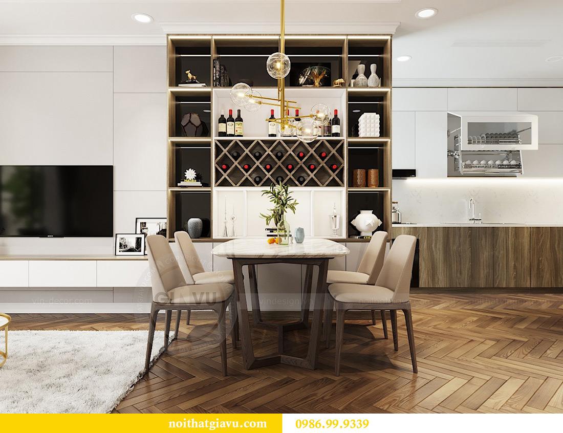 Thiết kế thi công nội thất chung cư Vinhomes Metropolis căn 07 tòa M3 3