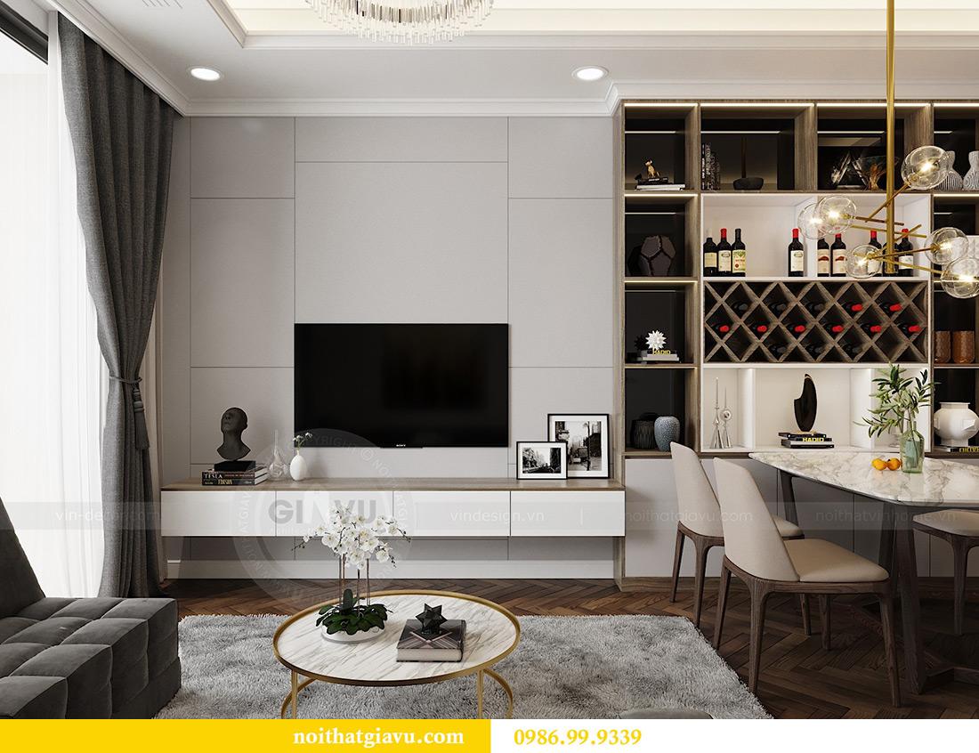 Thiết kế thi công nội thất chung cư Vinhomes Metropolis căn 07 tòa M3 4