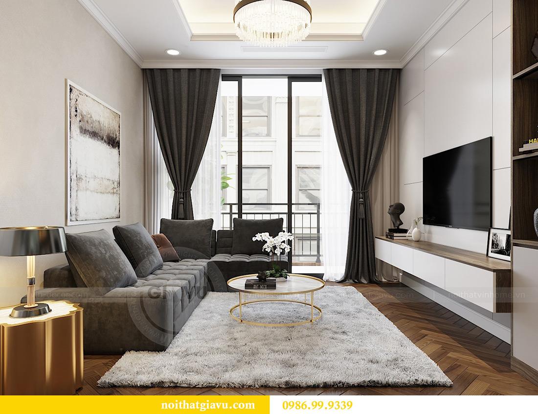 Thiết kế thi công nội thất chung cư Vinhomes Metropolis căn 07 tòa M3 5