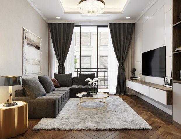 Thiết kế thi công nội thất chung cư Vinhomes Metropolis căn 07 tòa M3