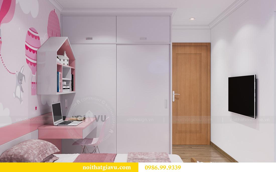 Mẫu thiết kế nội thất chung cư Sky Lake căn 2 ngủ đẹp hiện đại 11