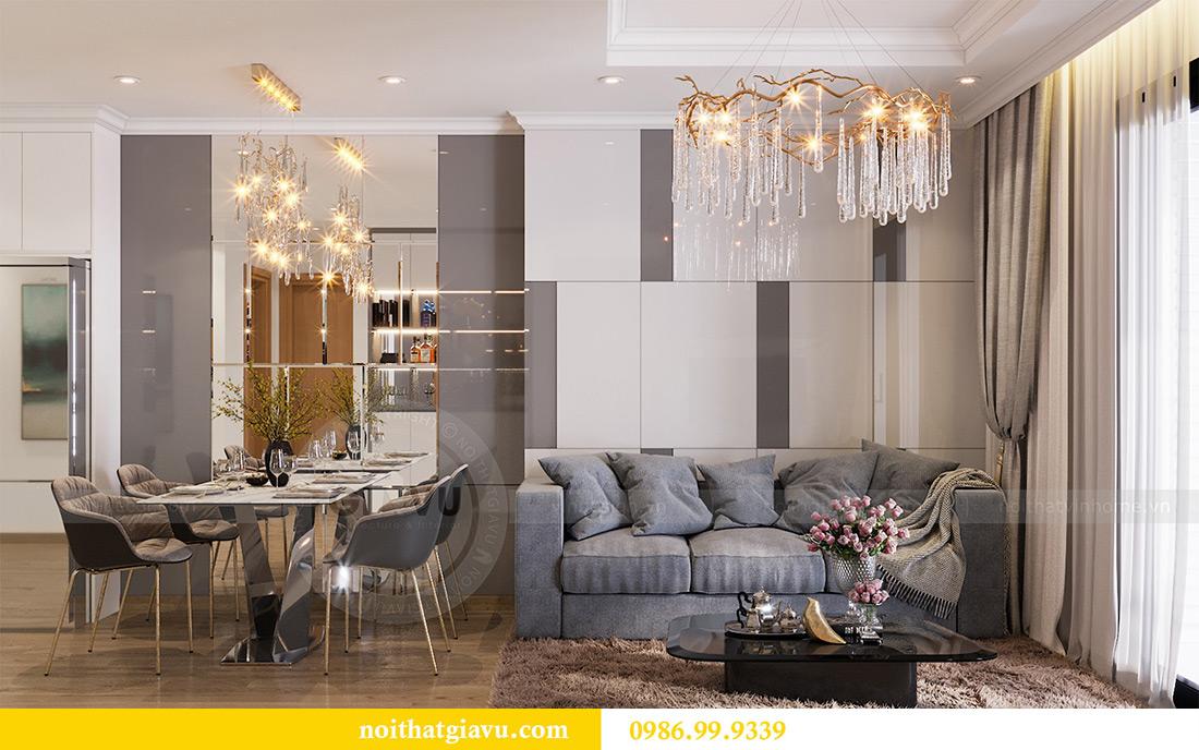 Mẫu thiết kế nội thất chung cư Sky Lake căn 2 ngủ đẹp hiện đại 3