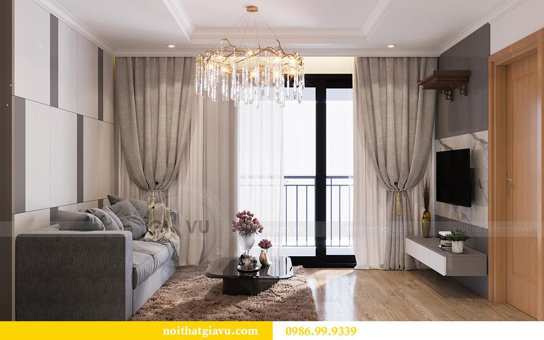 Mẫu thiết kế nội thất chung cư Sky Lake căn 2 ngủ đẹp hiện đại 4