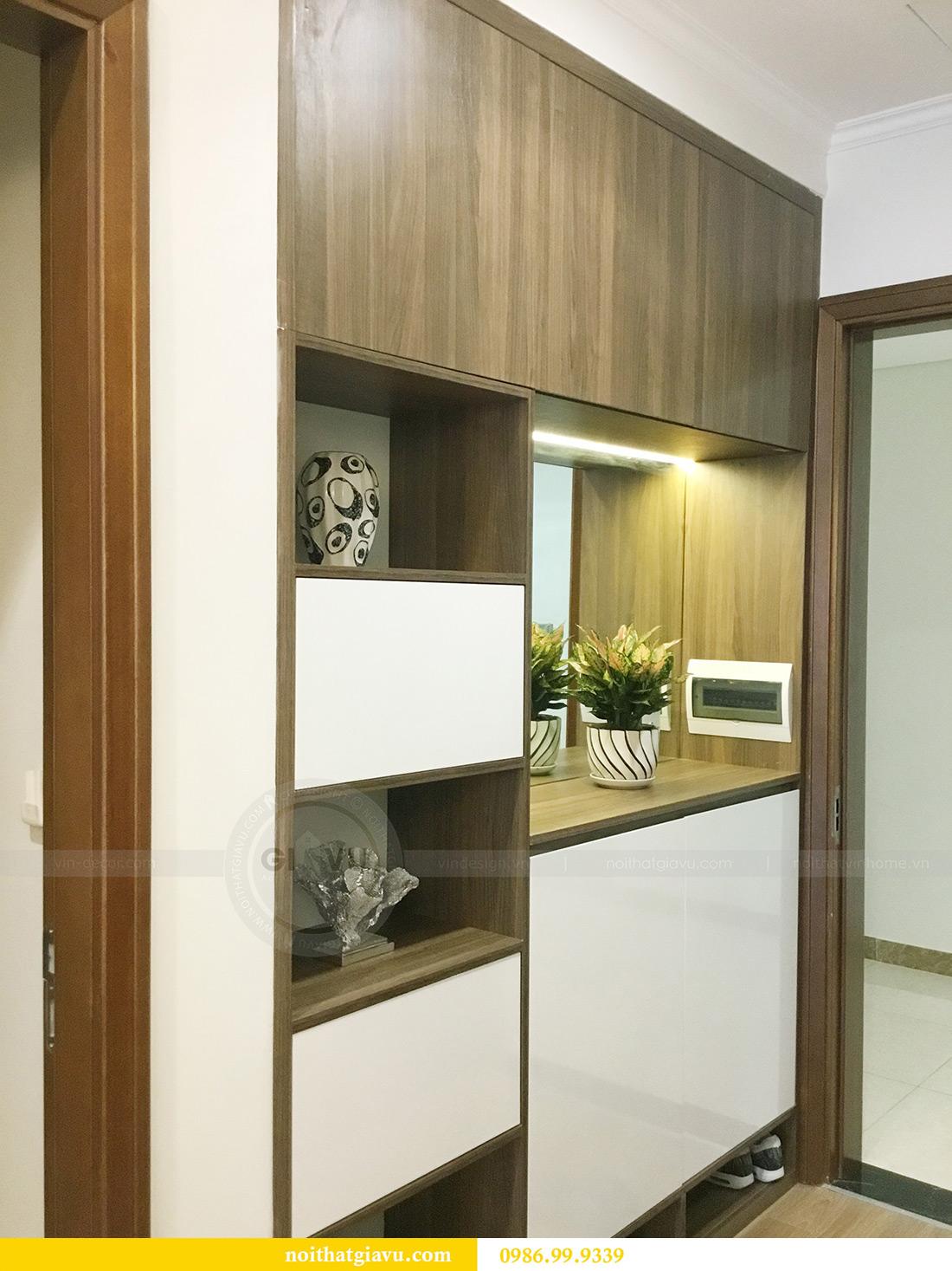 Thi công hoàn thiện nội thất căn hộ 2 phòng ngủ tại Times City Anh Sơn 1