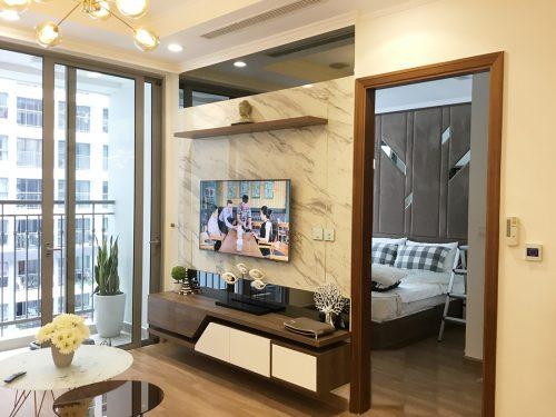 Thi công hoàn thiện nội thất căn hộ 2 phòng ngủ tại Times City Anh Sơn