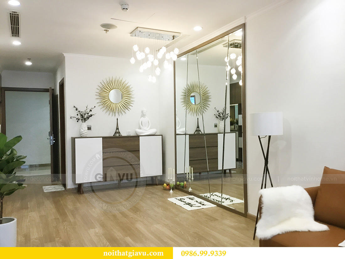 Thi công hoàn thiện nội thất căn hộ 2 phòng ngủ tại Times City Anh Sơn 7