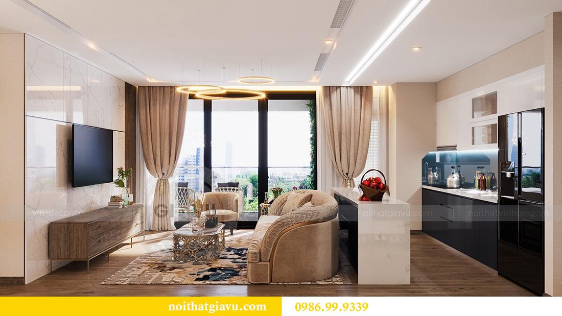 Thiết kế nội thất Vinhomes Liễu Giai tòa M1 căn 01 - Chị Trang 2