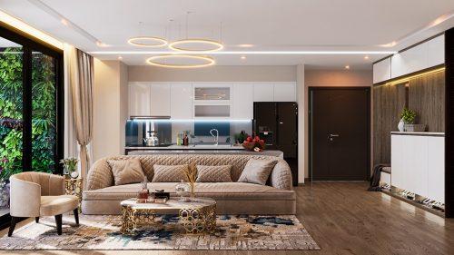 Thiết kế nội thất Vinhomes Liễu Giai tòa M1 căn 01 – Chị Trang