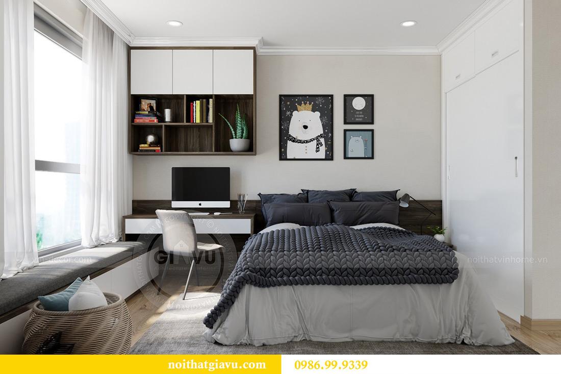 Thiết kế căn hộ chung cư Vinhomes Sky Lake tòa S2 nhà chị Hà 12