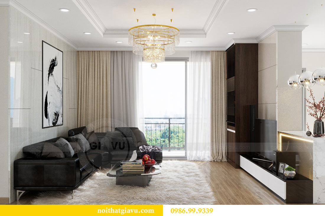 Thiết kế căn hộ chung cư Vinhomes Sky Lake tòa S2 nhà chị Hà 3