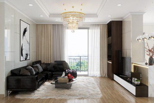 Thiết kế căn hộ chung cư Vinhomes Sky Lake tòa S2 nhà chị Hà