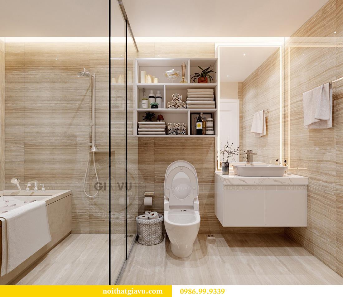 Thiết kế căn hộ chung cư Vinhomes Sky Lake tòa S2 nhà chị Hà 9