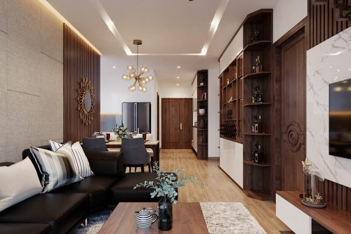 Thiết kế nội thất căn hộ Metropolis tòa M3 01 nhà anh Thịnh
