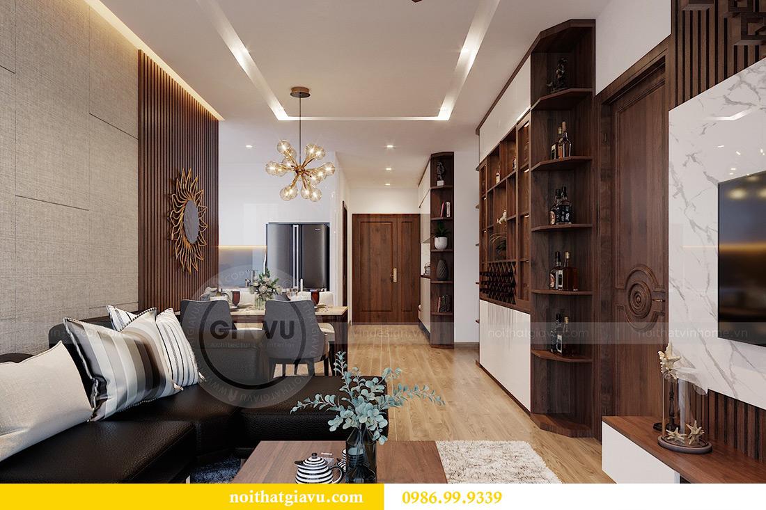 Thiết kế nội thất căn hộ Metropolis tòa M3 01 nhà anh Thịnh 6