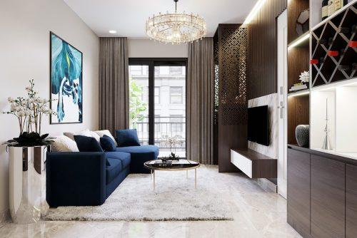 Thiết kế nội thất chung cư Dcapitale tòa C1 07 nhà cô Quý