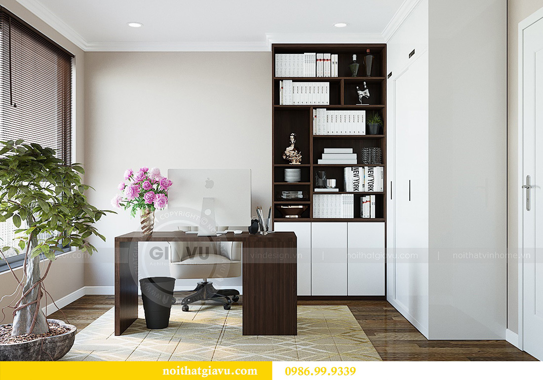 Thiết kế nội thất chung cư Green Bay tòa G3 đẹp hiện đại 13