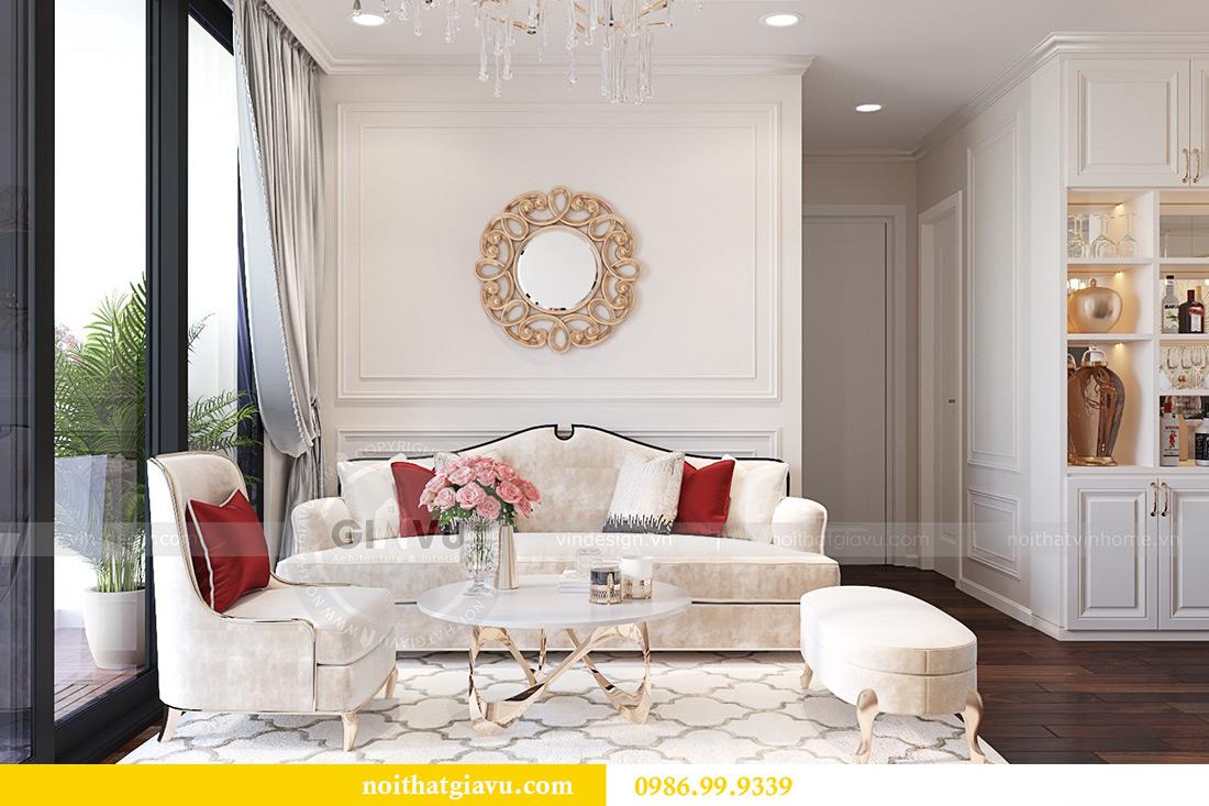 Thiết kế nội thất chung cư Liễu Giai tòa M1 căn 11A - nhà chị Vân 3