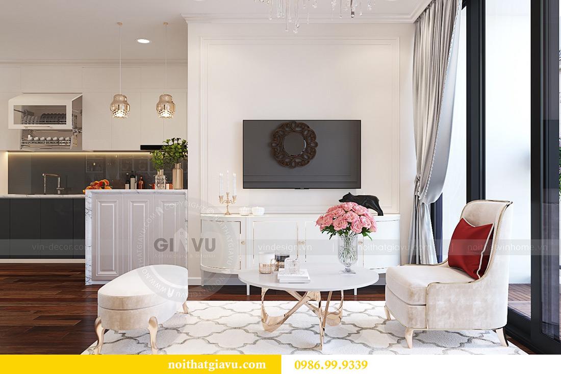 Thiết kế nội thất chung cư Liễu Giai tòa M1 căn 11A - nhà chị Vân 4