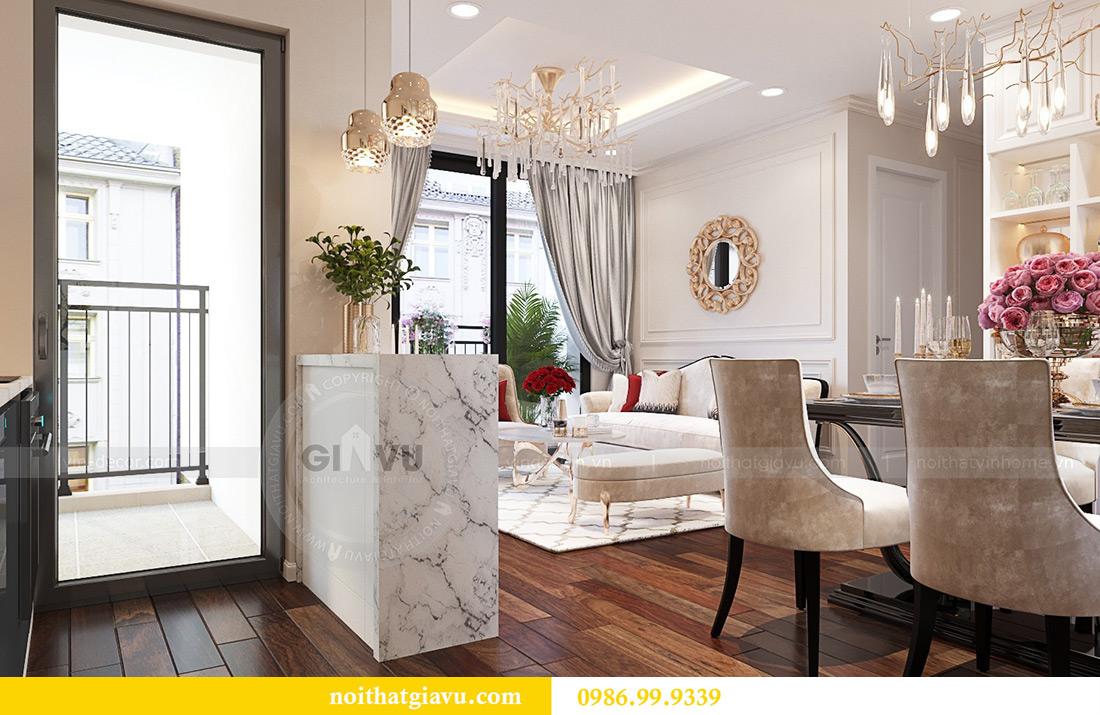 Thiết kế nội thất chung cư Liễu Giai tòa M1 căn 11A - nhà chị Vân 5