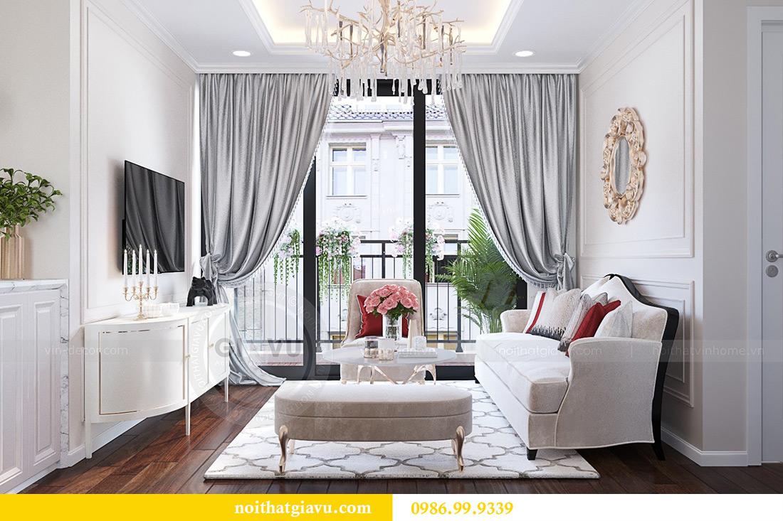 Thiết kế nội thất chung cư Liễu Giai tòa M1 căn 11A - nhà chị Vân 7