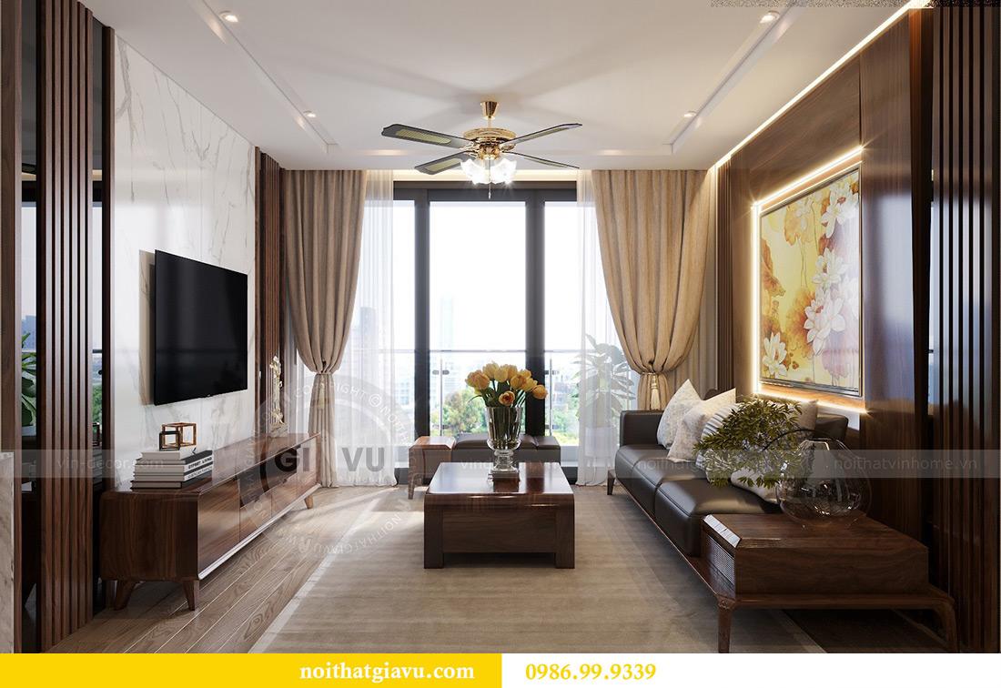 Thiết kế thi công căn hộ Vinhomes Metropolis tòa M2 căn 02 - chú Bình 5
