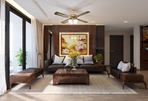 Thiết kế thi công căn hộ Vinhomes Metropolis tòa M2 căn 02 – chú Bình
