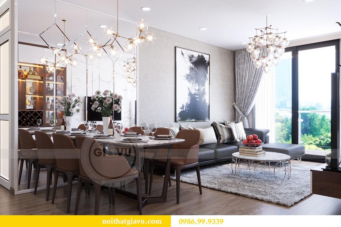 Thiết kế nội thất căn hộ Metropolis tòa M3 12 nhà chị Tảo 2