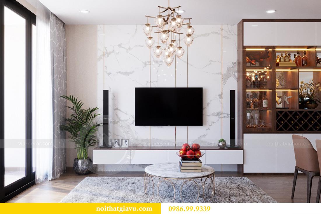 Thiết kế nội thất căn hộ Metropolis tòa M3 12 nhà chị Tảo 4
