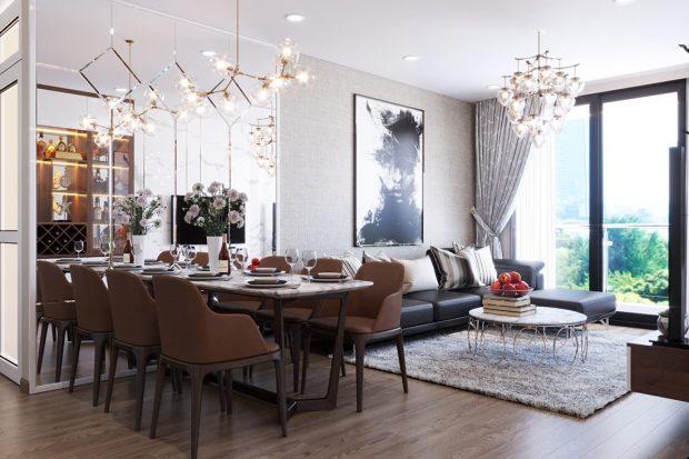 Thiết kế nội thất căn hộ Metropolis tòa M3 12 nhà chị Tảo