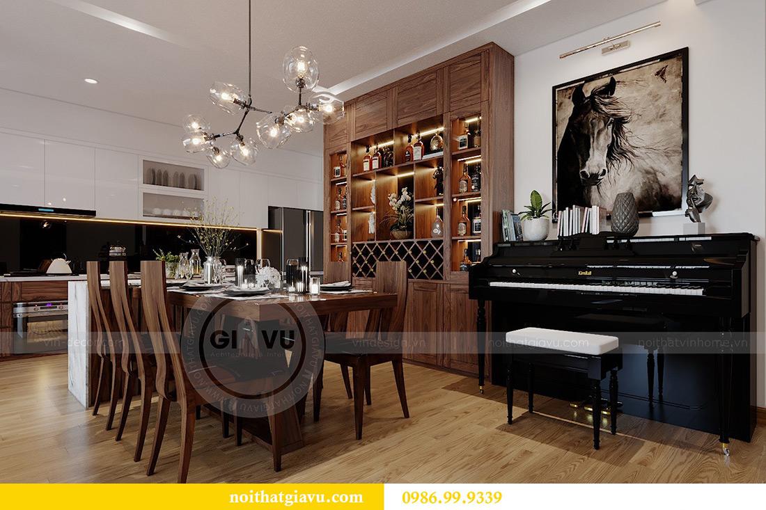 Thiết kế nội thất chung cư Liễu Giai tòa M2 căn 11 nhà anh Thắng 3