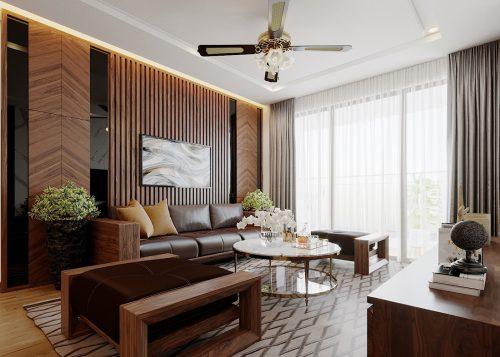 Thiết kế nội thất chung cư Liễu Giai tòa M2 căn 11 nhà anh Thắng