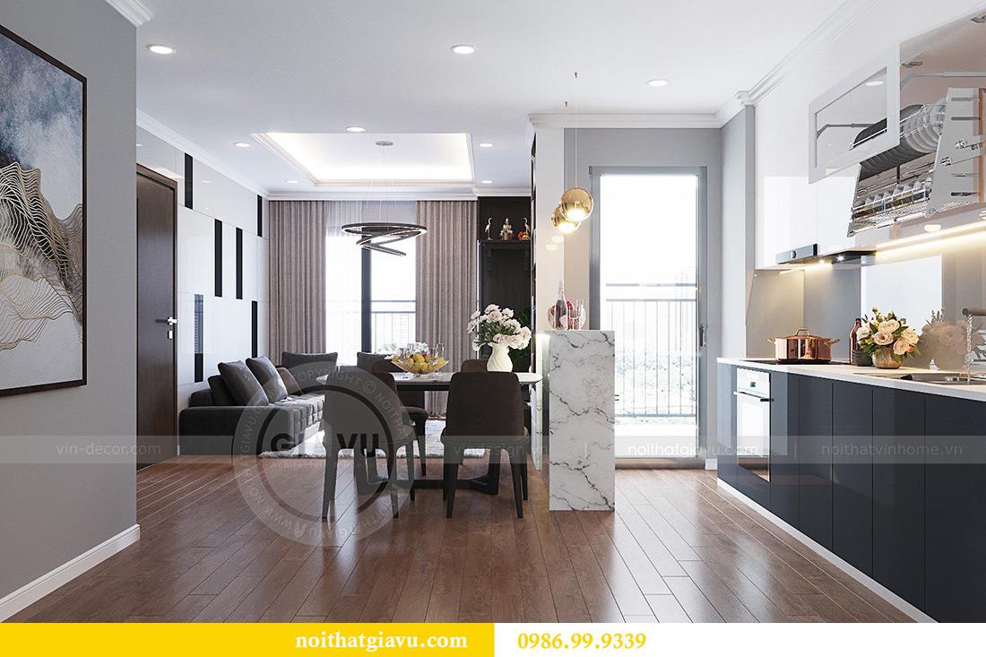 Thiết kế thi công nội thất chung cư Liễu Giai căn 07 tòa M3 - chị Thương 2