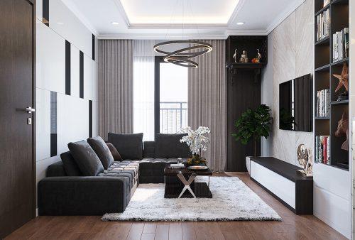 Thiết kế thi công nội thất chung cư Liễu Giai căn 07 tòa M3 – chị Thương