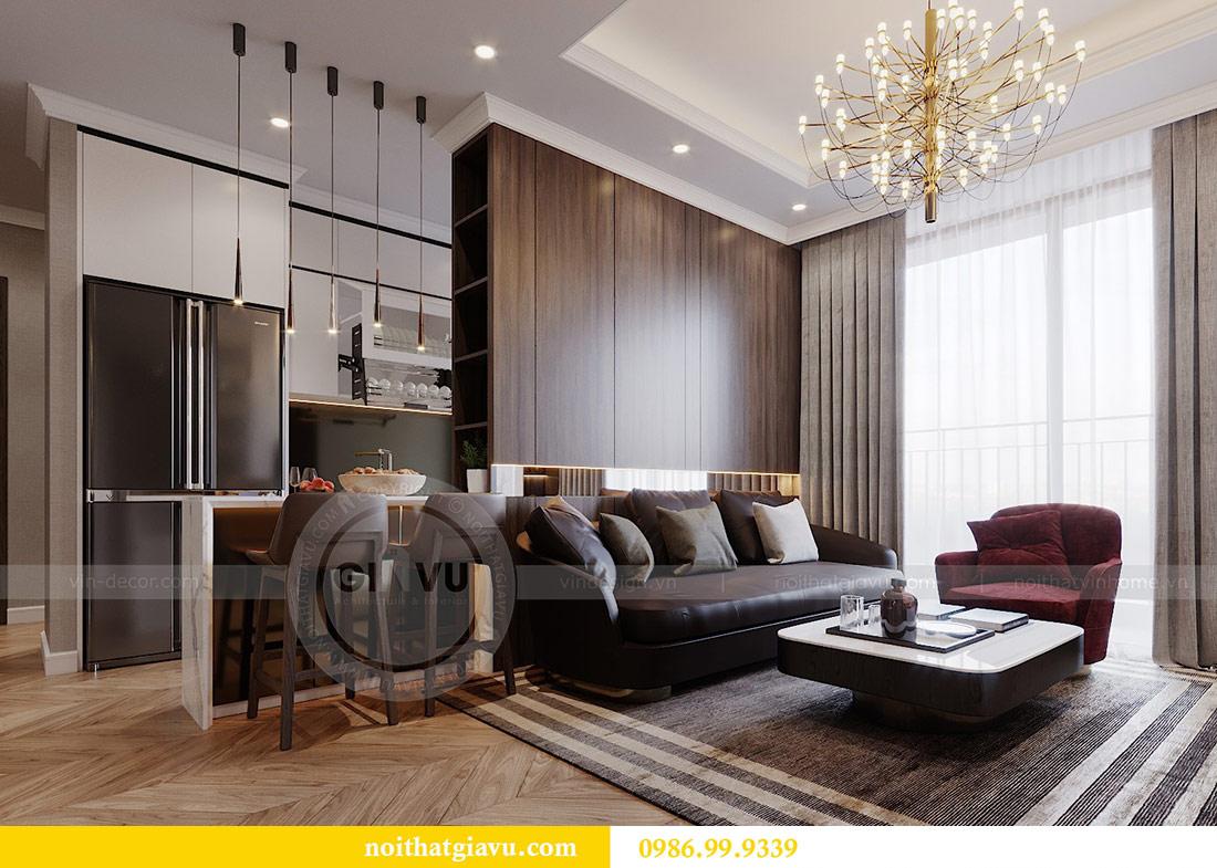 Thiết kế chung cư Vinhomes Green Bay tòa G2 căn 15B - Anh Thắng 1
