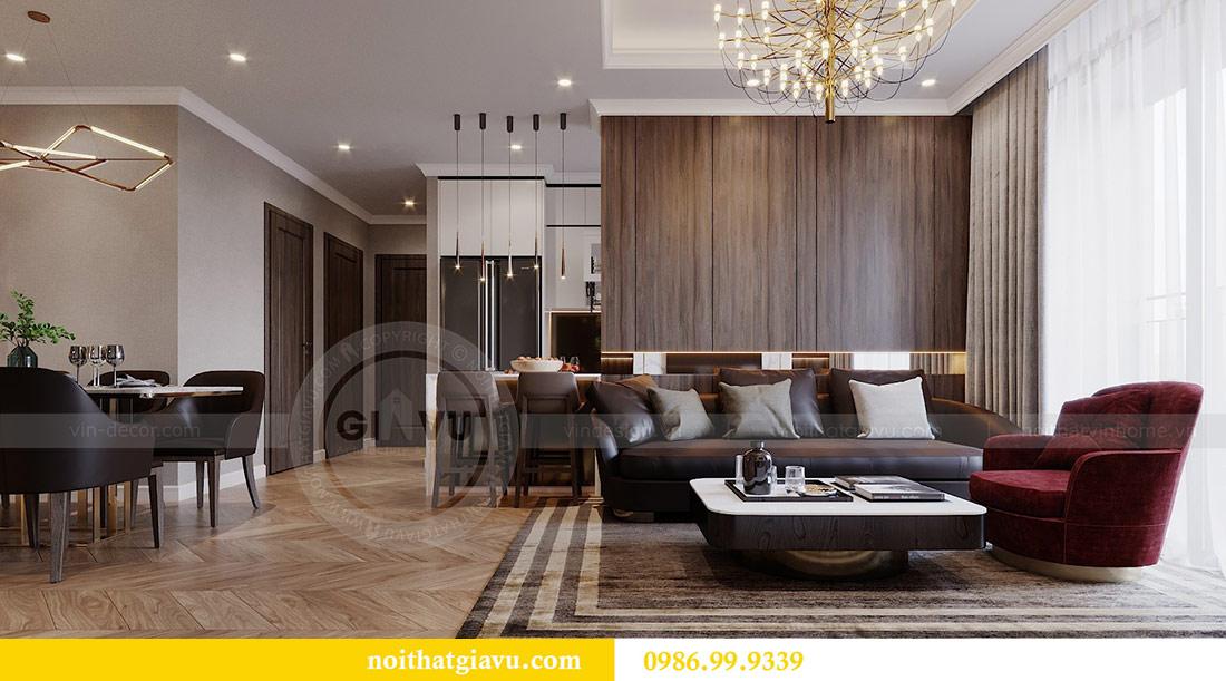 Thiết kế chung cư Vinhomes Green Bay tòa G2 căn 15B - Anh Thắng 3