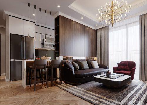 Thiết kế chung cư Vinhomes Green Bay tòa G2 căn 15B – Anh Thắng