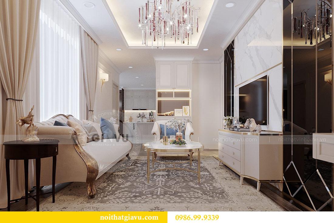 Thiết kế nội thất chung cư Mễ Trì tòa G1 căn 3 ngủ nhà chị Thu 3