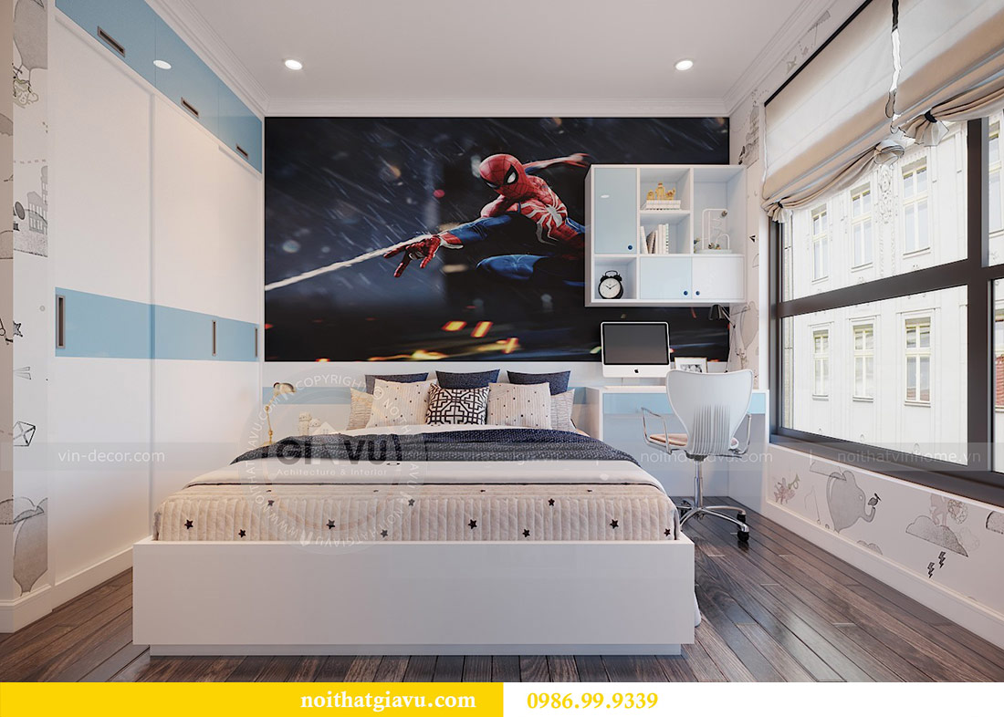 Thiết kế nội thất chung cư Mễ Trì tòa G1 căn 3 ngủ nhà chị Thu 9